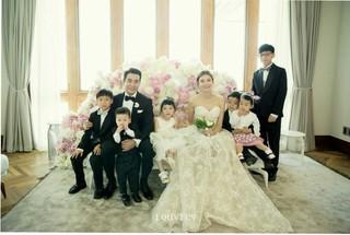 新婚ホヤホヤのチュ・サンウク&チャ・イェリョン!甥姪とのウェディング写真は未来の家族写真のよう?