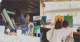 """妊娠中の女優ファン・ジョンウム、""""絵画胎教""""に励む日常写真を公開♪"""