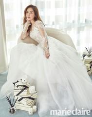 女優ソン・ユリはスモールウェディング派♪ファッション誌でウェディングドレス姿を見せる!
