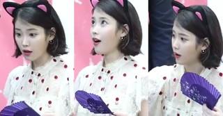 歌手IUが自身の顔で彫られたファンのタトゥーを見た時の反応~ホントに彫ったの!?~