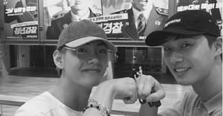 俳優パク・ソジュン&「防弾少年団」V、一緒に映画「青年警察」を観覧する!?