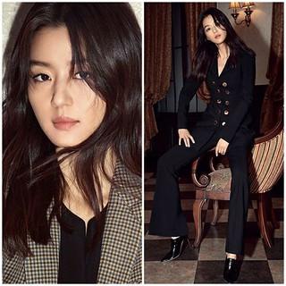 女優チョン・ジヒョン、ひとあし早い秋ファッション♪女神の威厳を見せる!