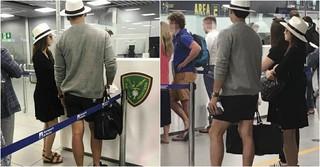 キム・テヒ♡Rain夫婦は現在、胎教旅行中♪イタリアの空港でキャッチされる!