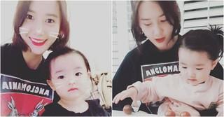 「少女時代」ユナ、女優ソ・イヒョンの愛娘ハウンちゃんと遊ぶ♡