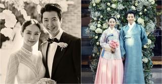 イ・ドンゴン♡チョ・ユニ夫婦、結婚式での写真を公開する♪