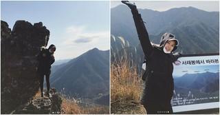 女優イ・シヨン、妊娠9か月でも登山を楽しむ!?健康的な日常を公開。