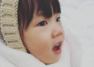 ユジンの娘ロヒちゃん、雪の中ではしゃぐ姿が・・・セジョルクィ(世界で一番可愛い)♪
