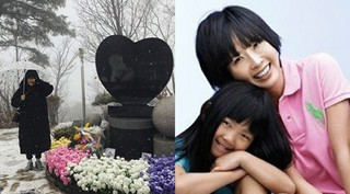 故チェ・ジンシルの娘、チェ・ジュニが誕生日に母の納骨堂を訪問。