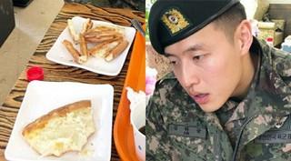軍服務中の俳優カン・ハヌル、久しぶりのピザに苦戦!?近況写真が公開される。
