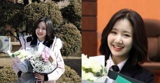 子役出身女優チン・ジヒが高校卒業!功労賞も受賞する♪