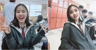 花盛りの高校3年生♪女優キム・ヒャンギ、学校での日常写真を公開!