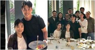 俳優チョン・ウソン、台湾出身の大女優ブリジット・リンとお誕生日を祝う♪
