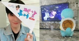 「NU&#39&#59;EST」JR(ジョンヒョン)が自身の誕生日広告を巡る!?~ゼニガメ~