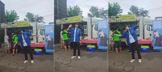 俳優ソン・ジェリムのファンがドラマ撮影現場にケータリングカーを贈る♪