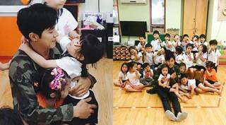 """「東方神起」ユンホ、""""ビタミンユンホ先生""""再び!幼稚園生たちとの再会を報告する♪"""