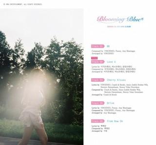 歌手チョンハ、新譜「Blooming Blue」のトラックリストを公開!
