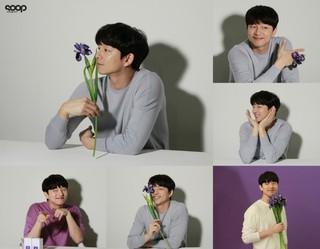 """俳優コン・ユ、多彩な魅力を発揮するグラビア撮影ビハインドカット""""花を持った男""""♪"""
