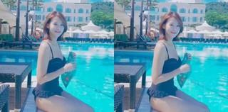 女優ユ・イニョン、とっても可愛い水着姿で少し遅い夏休暇を満喫中♪