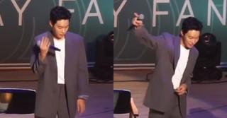 """俳優リュ・ジュンヨル、ファンミーティングで見せた「防弾少年団」の""""IDOL""""ダンスが話題!"""