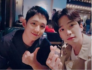 チョン・ヘイン&コ・ユン、仲良しな2ショット!イケメン2人に癒される