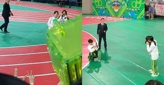 「アイドル陸上選手権大会」で互いの写真を撮り合う先輩・後輩が可愛い!