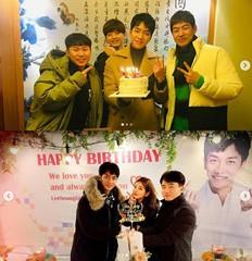 イ・スンギ、同僚やスタッフと一緒に誕生日パーティー♥