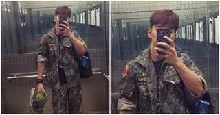 """俳優ユ・スンホ、予備軍訓練に参加した""""軍服""""姿のセルカを公開!"""
