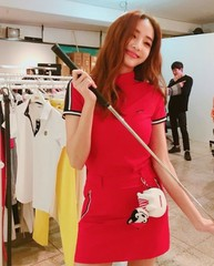 """女優ハン・チェヨン、""""バービー人形""""スタイルでゴルフウェアー姿を披露!"""